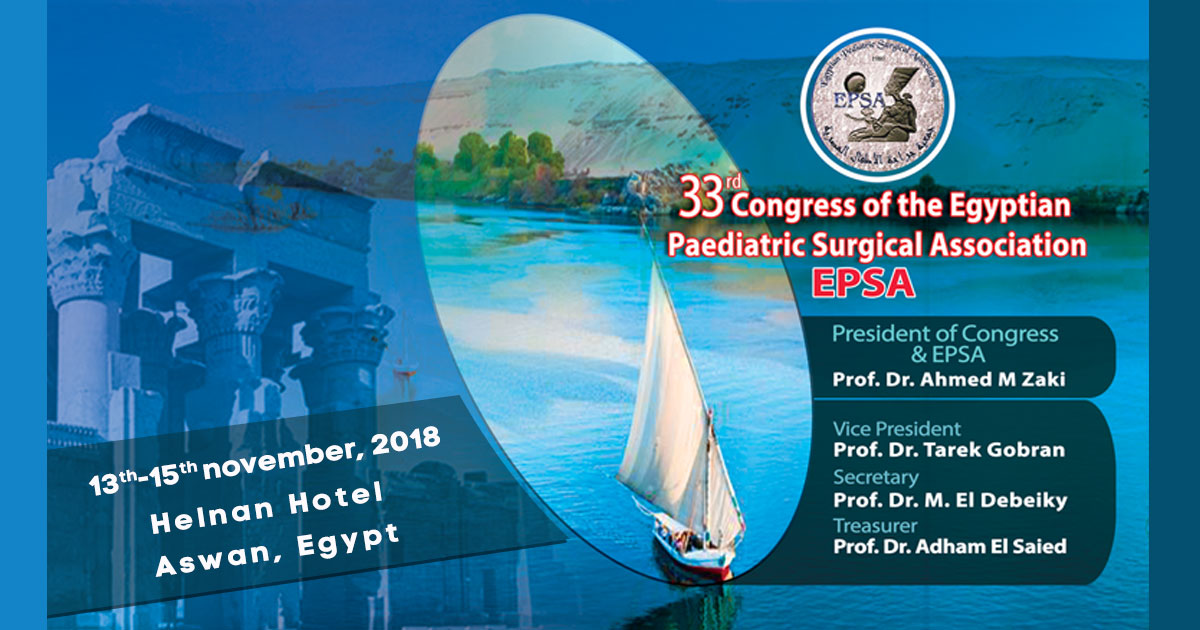 33rd Congress of the Egyptian Paediatric Surgical Association - EPSA